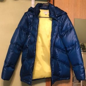Coldwater Creek Puffy Blue coat